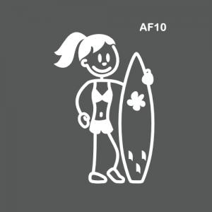 Ado fille surfeuse