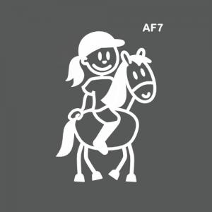Ado fille à cheval