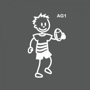 Ado garçon joueur de rugby
