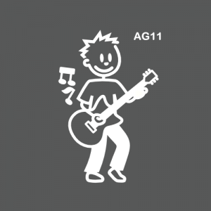Ado garçon jouant de la guitare