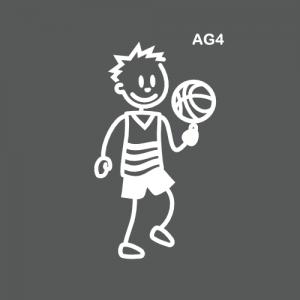 Ado garçon joueur de basket