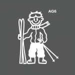 Ado garçon skieur