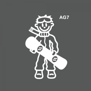 Ado garçon snowboardeur