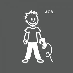 Ado garçon fan de jeux vidéo