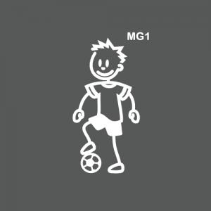 Garçon joueur de foot