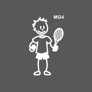 Garçon joueur de tennis