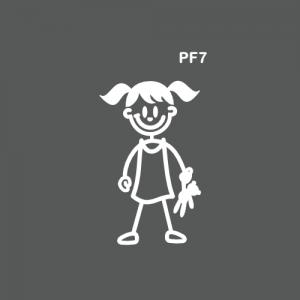 Petite fille avec un doudou