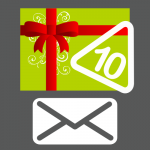 Shipped gift card for 10 stickers
