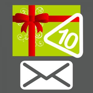 Carte cadeau 10 autocollants envoyée par courrier