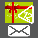 Shipped gift card for 12 stickers