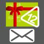 Carte cadeau 12 autocollants envoyée par courrier