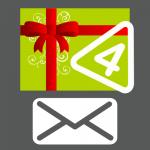 Carte cadeau 4 autocollants envoyée par courrier