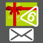 Carte cadeau 6 autocollants envoyée par courrier