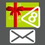 Carte cadeau 8 autocollants envoyée par courrier